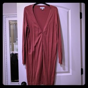 3/$20 Forever 21 coral long cardigan 1X